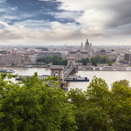 Panoramic view of Budapest from the Buda coast