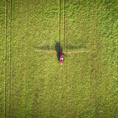 Agricultural machinery in the field.
