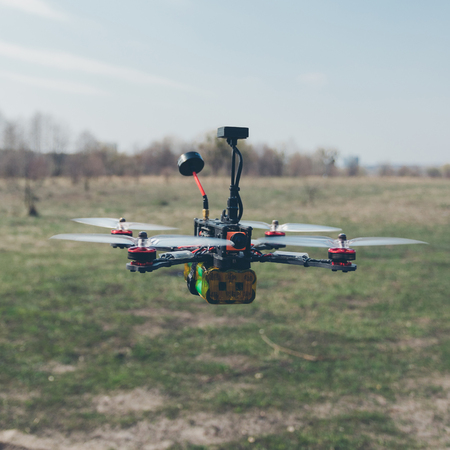 FPV drone ready to fly Stock Photo