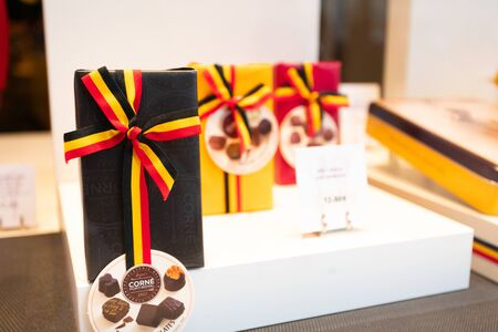 Shop window with Belgian Chocolate