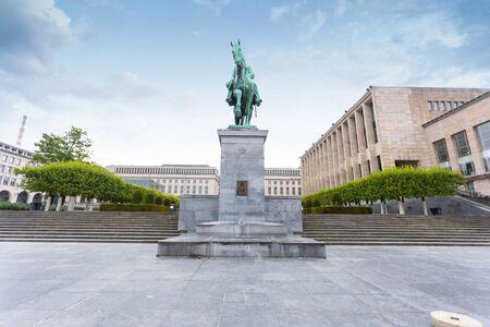 Mount of Arts in Brussels, Belgium Foto de archivo - 133745247