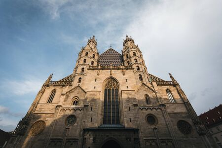 Saint Stephens Cathedral on the central square in Vienna, Austria