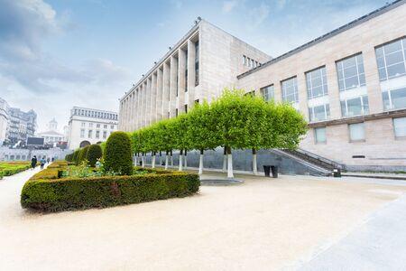 Mount of Arts in Brussels, Belgium Foto de archivo - 133745256