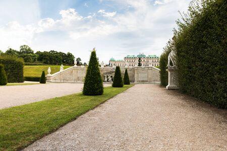 Belvedere Gardens with Upper Belvedere, Vienna, Austria