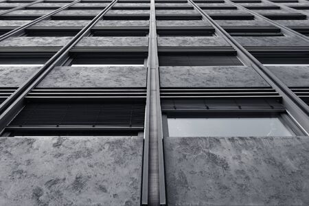 Abstract fragment of modern architecture. Residential modern building