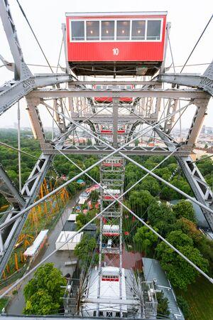 View from the Vienna Ferris Wheel - a symbol of Vienna, Austria Reklamní fotografie - 129884675