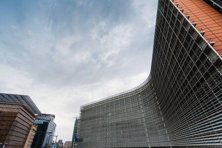 European Commission headquarters in Brussels, Belgium . Stock Photo