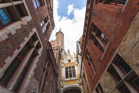 City Hall of Bruges, Belgium Foto de archivo - 136321082