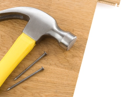 hammer and nails isolated on white background Stock Photo - 11852793