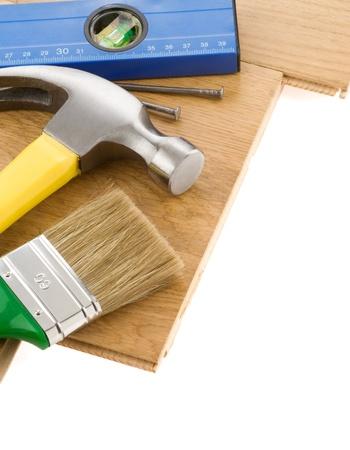 construction tools isolated on white background Stock Photo - 11852746