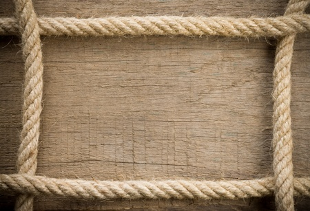 corde navire et texture vieux fond de bois