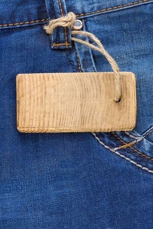 price tag and jeans textured pocket photo