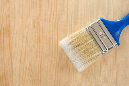 paintbrush on wood background texture Stock Photo - 11927237