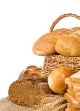 bread and bakery products isolated on white background Stock Photo - 11927248