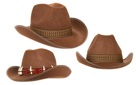 cowboy hat isolated on white background photo