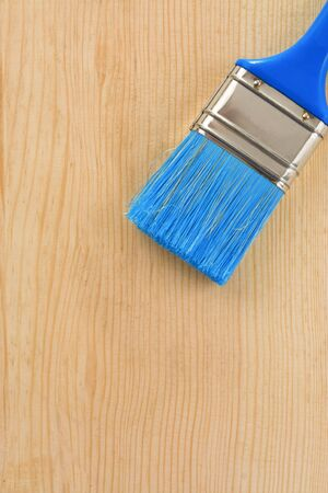 paintbrush on wood background texture Stock Photo - 11973902