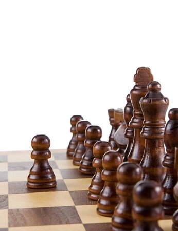 chess figures isolated on white background photo