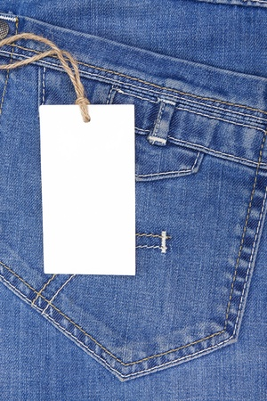 blue jeans: price tag over blue jeans textured pocket