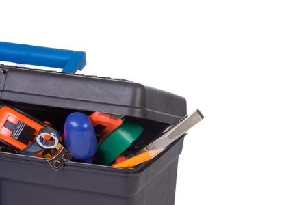 plastic box at white background photo
