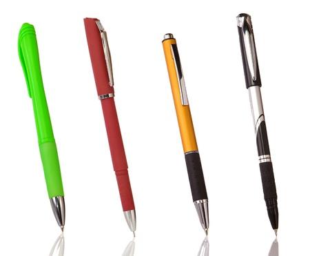 pens isolated on white background photo