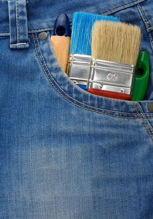 tool on jeans texture pocket photo
