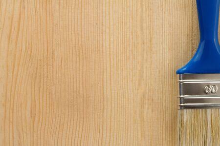 brush on wood background texture Stock Photo - 12042230