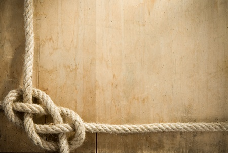 ship ropes and wood background texture photo