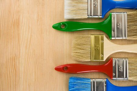brush on wood background texture Stock Photo - 12311472