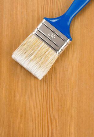 paintbrush on wood background texture Stock Photo - 12311346