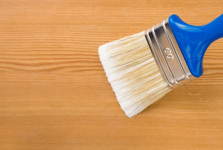 paintbrush painting on wood board background texture Stock Photo - 12311344