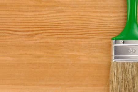 paintbrush on wood background texture Stock Photo - 12411103