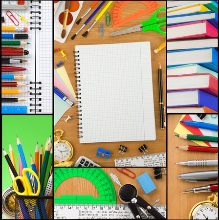 back to school concept collage Stock Photo - 12411115