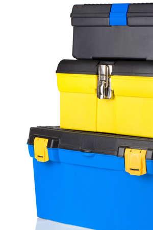 set of toolbox isolated on white background photo