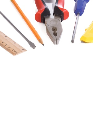 screwdriwer: isolated tools over white background Stock Photo