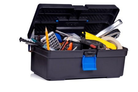 isolated toolbox on white background Stock Photo - 12625014