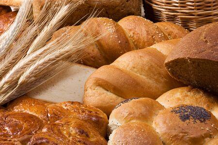 set of tasty bakery products photo