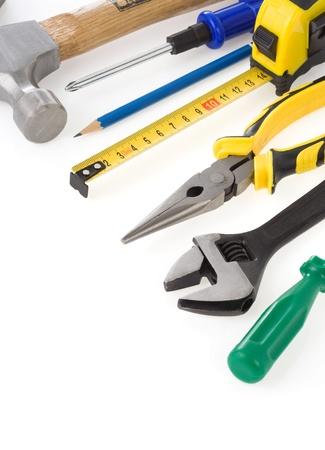 set of tools isolated on white background photo