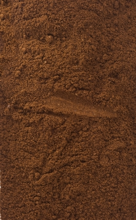 coffee powder as background texture photo