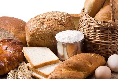 isolated set of bakery products photo