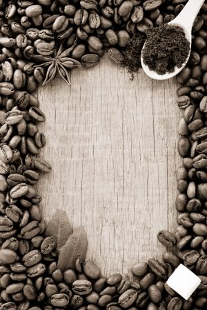 coffee powder and beans as background texture Stock Photo - 14383983