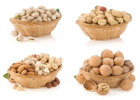 nuts isolated on white background Stock Photo - 14384078