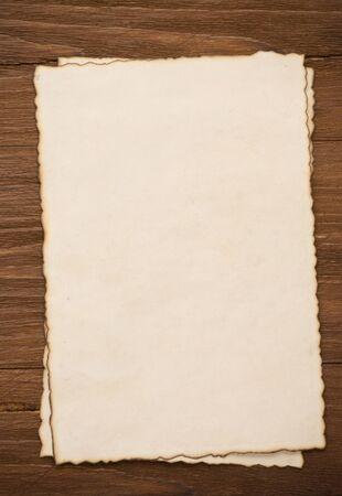 paper vintage background on wood photo
