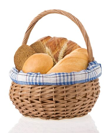 fresh bread isolated on white background Stock Photo - 15087179