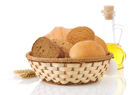 fresh bread isolated on white background Stock Photo - 15087264