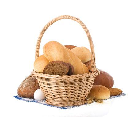 fresh bread isolated on white background Stock Photo - 15087325