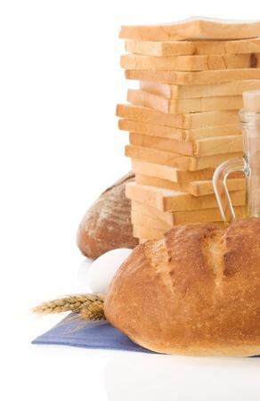 fresh bread isolated on white background Stock Photo - 15087272