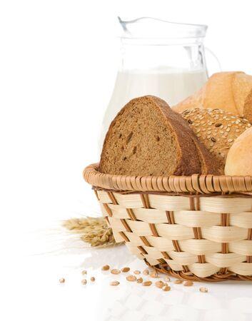 fresh bread isolated on white background Stock Photo - 15087252