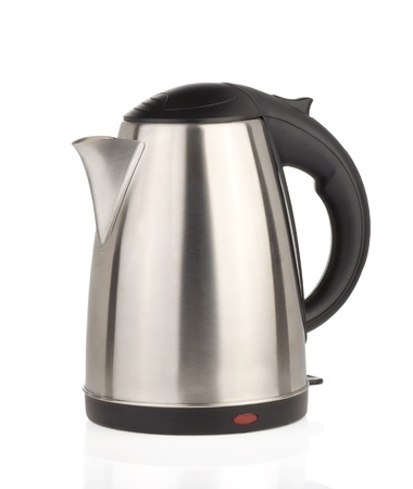 stainless electric kettle isolated on white Stock Photo - 15087340
