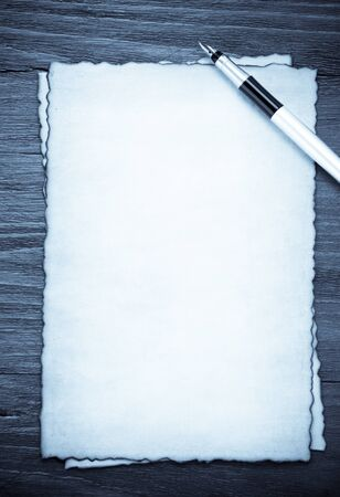 ink pen on parchment background texture Stock Photo - 15087103