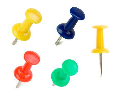set of pushpin isolated on white background Stock Photo - 15087334